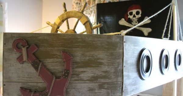 Pirate Ship Bunk Bed With Slide Pirate Boys Bedroom I