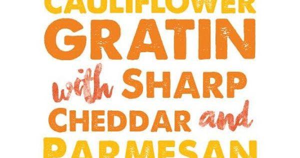 Cauliflower Gratin with Sharp Cheddar and Parmesan ...