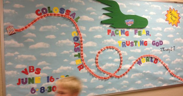 VBS Colossal Coaster World bulletin board | Rollercoaster ...