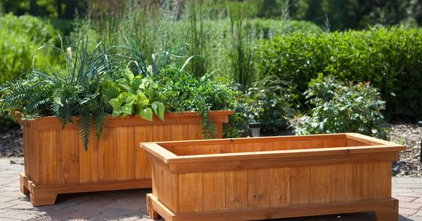 Deck planter box.