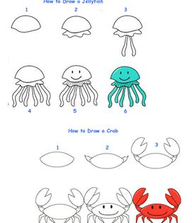 How To Draw Sea Creatures Sea Creatures Drawing Easy Drawings Animal Drawings