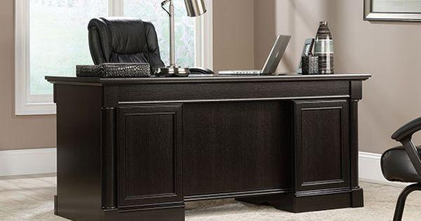 Aspenhome Warm Cherry Executive Modular Home Office: Sauder Avenue Eight Executive Desk