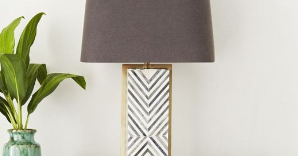 Chevron Deco Table Lamp Large West Elm Master Bedroom