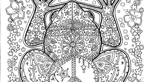 peace frog coloring pages - photo#22