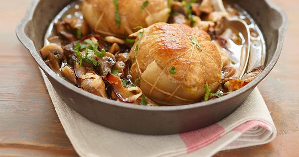 Paupiettes de veau aux champignons de cyril lignac - Cuisiner paupiettes de veau ...