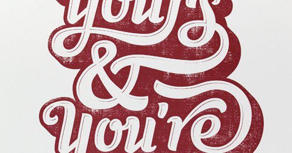 #ImYours typorgaphy graphic design lettering art