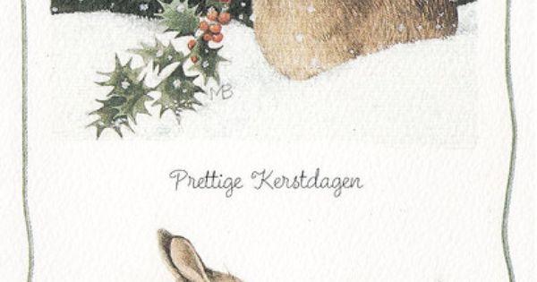 ~ Marjolein Bastin - Christmas bunnies