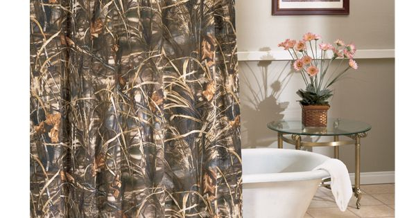 Realtree Max-4 Camo Shower Curtains | Bathrooms | Pinterest ...