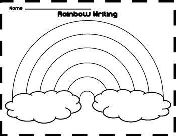 Free Rainbow Writing Template Rainbow Writing Writing Templates