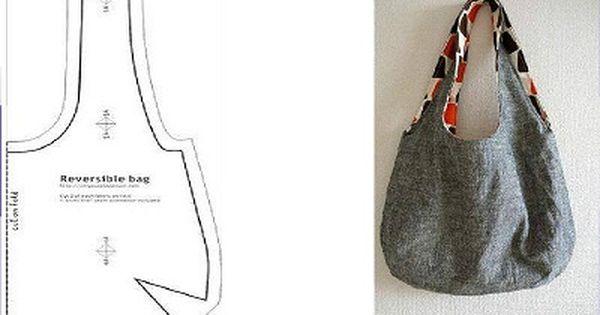 patron para bolso de tela tela pinterest bag and patchwork. Black Bedroom Furniture Sets. Home Design Ideas