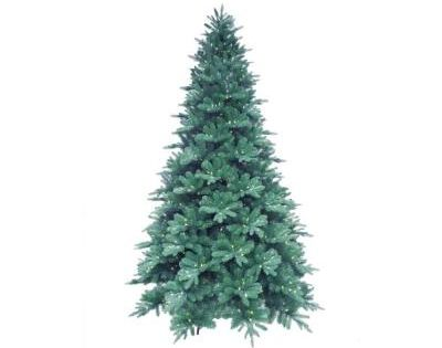 Martha Stewart Living 12 Ft. Pre-Lit LED Blue Noble Spruce Artificial Christmas Tree With Warm