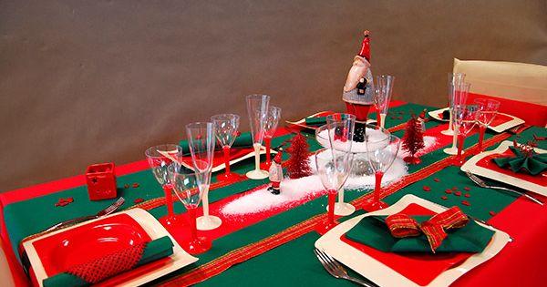 ... 2013 - 2014 - idées de décoration de noël  Noel, Tables and Rouge