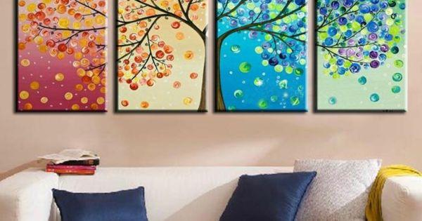 leinwandbilder selber gestalten diy jahreszeiten ideen weihnachtsgeschenk pinterest. Black Bedroom Furniture Sets. Home Design Ideas