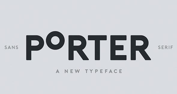 Porter – sans serif all caps font. The font is distributed in OpenType format including kerning and other features.
