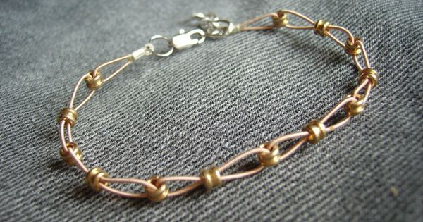 recycled guitar string & ball ends handmade jewelry bracelet DIY craft recycle