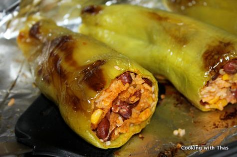 Stuffed Baked Banana Peppers Use Ground Turkey Or Chicken Chopped Cooking With Thas Recipes