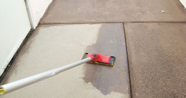 How to stain concrete For front stairs