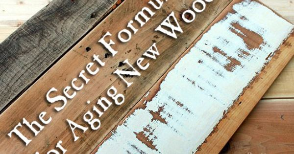 Secret Formula For Aging New Wood FAST ! Excellent Tutorial by Pretty