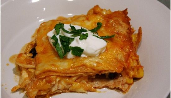 Skinny Chicken Enchilada Casserole, made this and oh so good!!