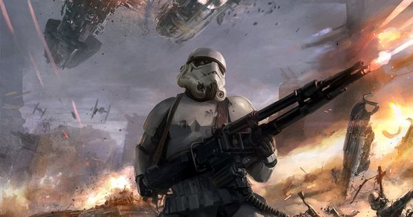 Star Wars Stormtroopers Fantasy Art Artwork Bwing Down: Dude This Stormtrooper Is Going All Commando Out There