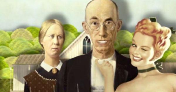 American Gothic Grant Wood Desperate Housewives Desperate Housewives American Gothic Desperate