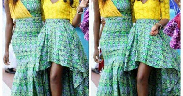 Nigerian Wedding Yellow And Green Ore-iyawo Aso-ebi Color