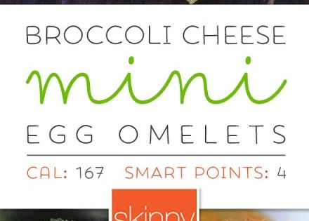Broccoli and Cheese Mini Egg Omelets – perfect to make ...