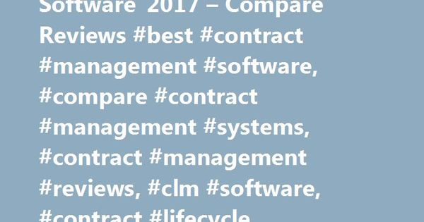 Best Contract Management Software   Compare Reviews Best
