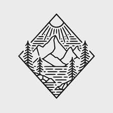 Mountain Drawing Black And White Nature Liam Ashurst