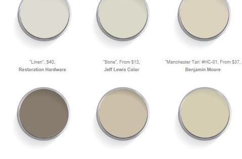 The 12 best warm neutrals for your walls pewter paint for Popular warm paint colors