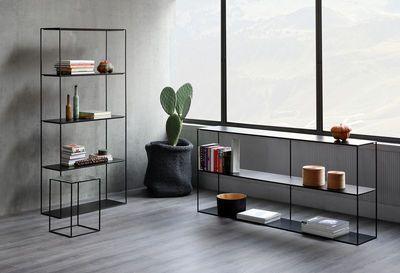 Etagere Slim Irony Zeus Noir Made In Design Mobilier De Salon Meuble Design Decoration Maison
