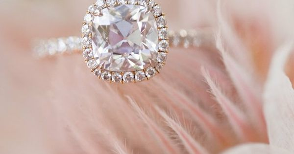 Cushion cut with halo and thin band my dream wedding ring :)