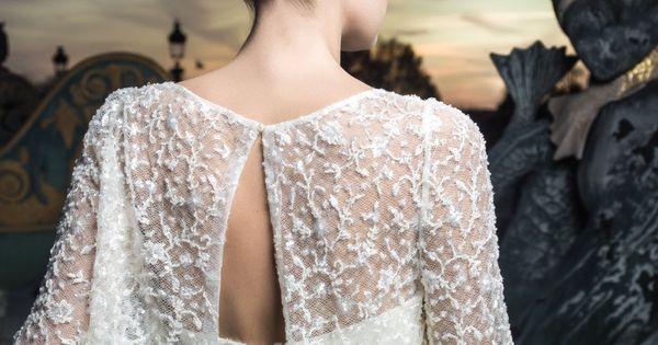 de mariée ouverte dans le dos sur une robe de dentelle  Robes de ...