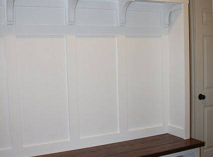 Ikea Hackers Mudroom Built in Materials: Hemnes two drawer TV console (two),