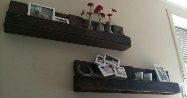 wandregale aus einer europalette 1 segen schleifen 2. Black Bedroom Furniture Sets. Home Design Ideas