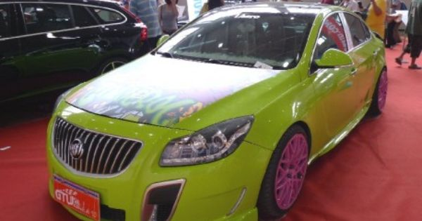 Green And Pink Buick Regal Lol Pink Wheels Green Bike Lime Green Paints