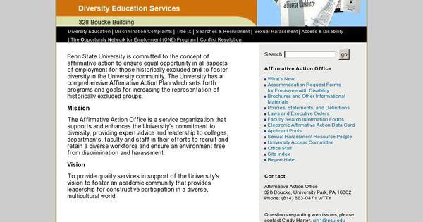Evidence From PsuEdu  The Affirmative Action Policy In Penn