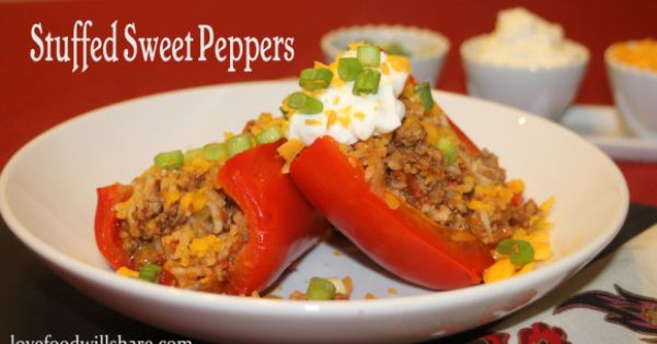 Stuffed sweet peppers, Stuffed peppers and Sweet on Pinterest