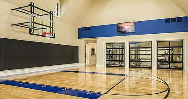 16 homes with basketball courts you can buy now for Buy indoor basketball court