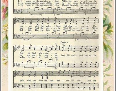 In The Garden My Favorite Hymn Piano Hymns And Bible Songs Free Sheet Music Pinterest