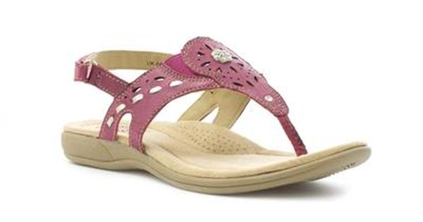 Earth Spirit Womens Pink Leather Toe