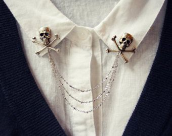 collar brooch Bee collar pins collar chain bee pin lapel pin bee brooch