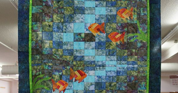 Molokini Bay Quilt Kit Featuring Hoffman Hand Dyed Batiks