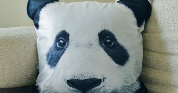 Pillow cover, Panda cushion cover, Panda pillow cover, pet cushion cover, animal collective ...
