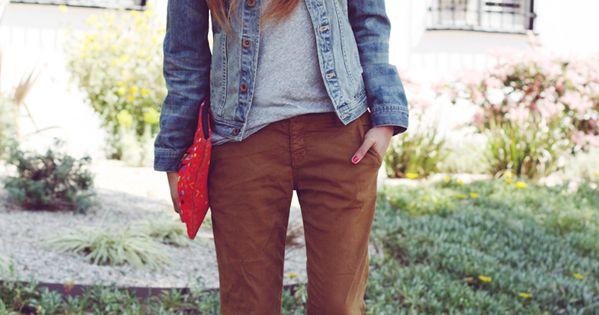 khakis + heels