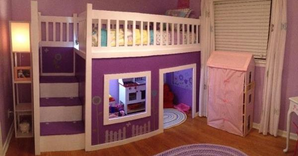 Girl S Playhouse Loft Bed Do It Yourself Home Projects