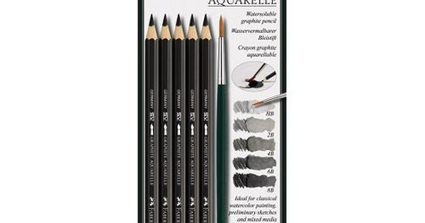 Faber Castell Graphite Aquarelle Pencils 5 Pack Faber Castell