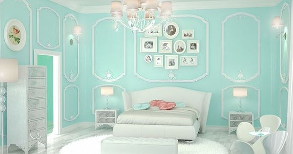 20 Bedroom Paint Ideas For Teenage Girls   Tiffany blue is a