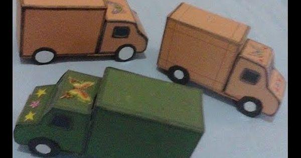 كيف تصنع شاحنة او سيارة بضائع بالكرتون How To Make A Paper Car Goods Wooden Toy Car Toy Car Toys