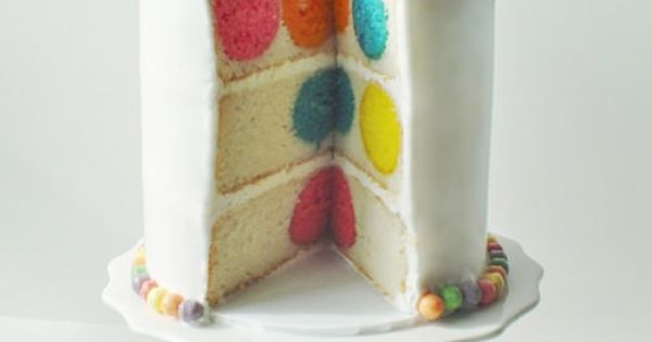 Once Upon a Pedestal: Polka Dot Cake from Bake Pop Pan -